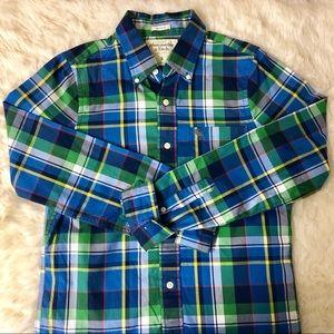 Green/Blue Plaid Shirt
